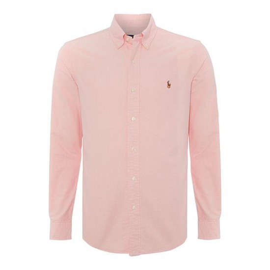 Polo ralph lauren men slim fit oxford shirt pink