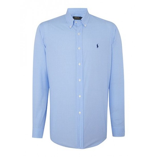Polo ralph lauren men regular fit checked shirt blue