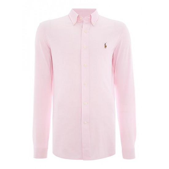 Polo ralph lauren men long sleeve slim fit oxford shirt pink