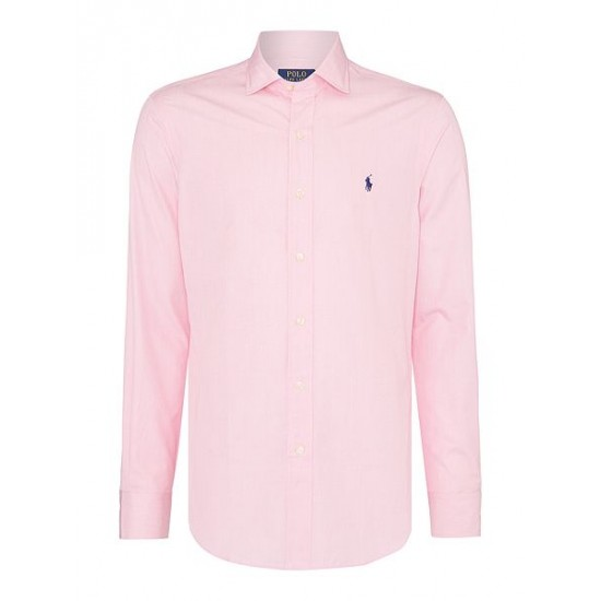 Polo ralph lauren men slim fit poplin shirt rose