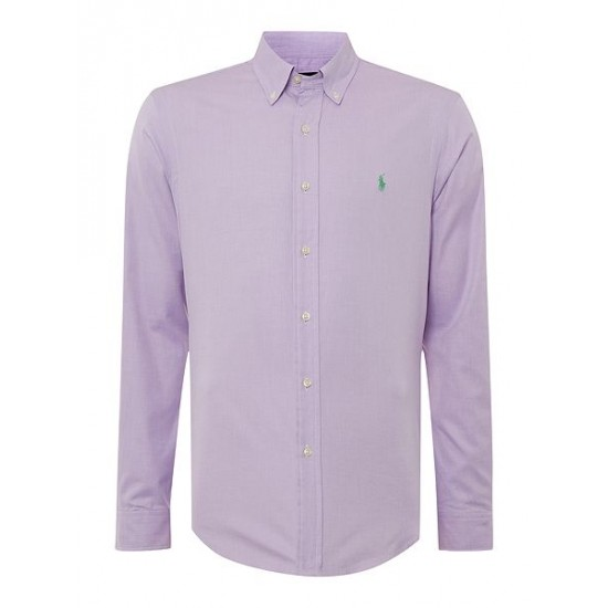 Polo ralph lauren men oxford twill slim fit long sleeve shirt lilac