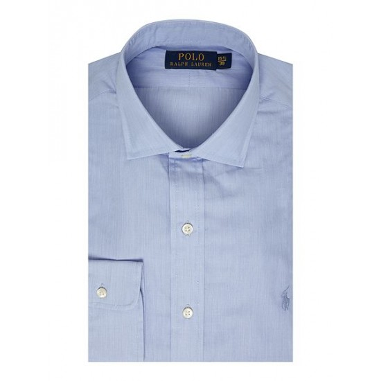 Polo ralph lauren men regular fit cotton dress shirt blue