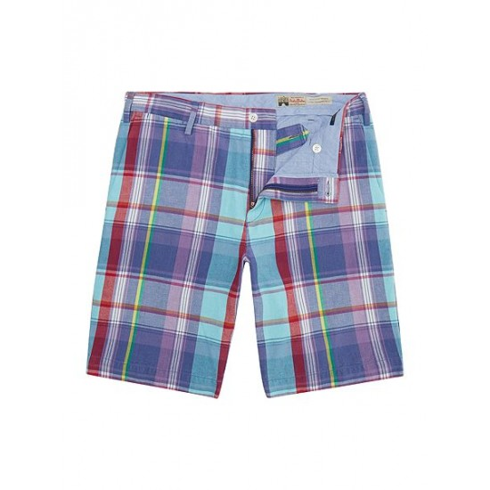 Polo ralph lauren men classic fit newport check shorts purple