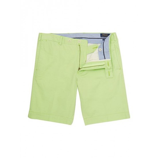 Polo ralph lauren men slim fit stretch military shorts lime