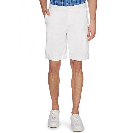 Polo ralph lauren men relaxed-fit cotton chino shorts white