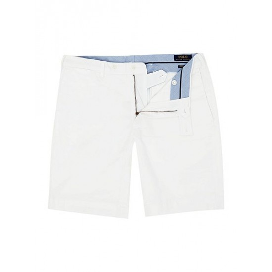 Polo ralph lauren men slim fit hudson shorts white