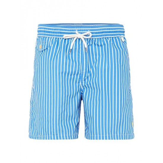 Polo ralph lauren men butcher stripe shorts blue