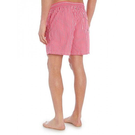 Polo ralph lauren men butcher stripe shorts pink