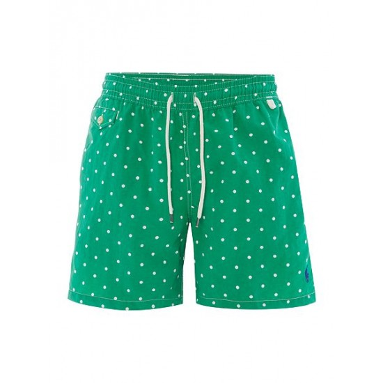 Polo ralph lauren men polka dot print swim shorts green