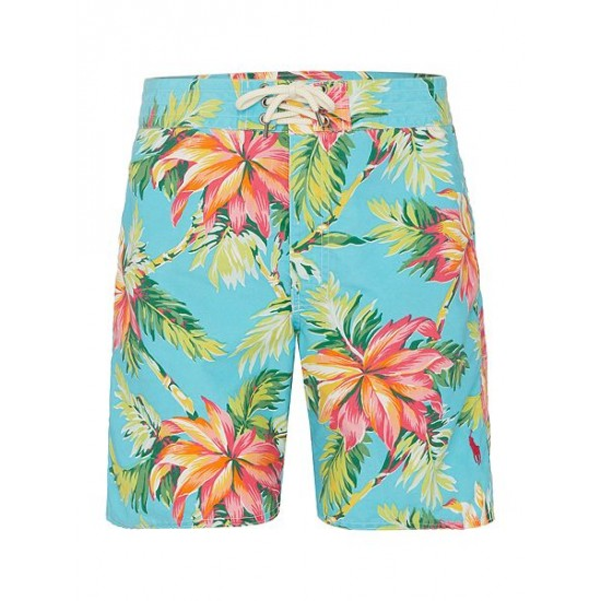 Polo ralph lauren men palm island swim shorts light blue
