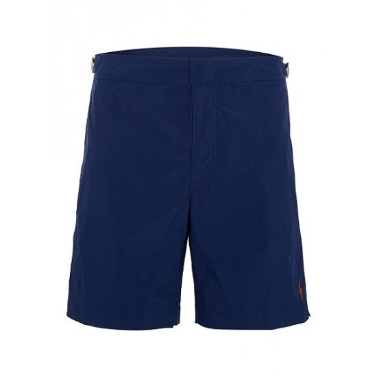 Polo ralph lauren men fixed waistband swim shorts navy