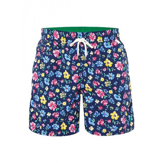 Polo ralph lauren men floral print swim shorts navy