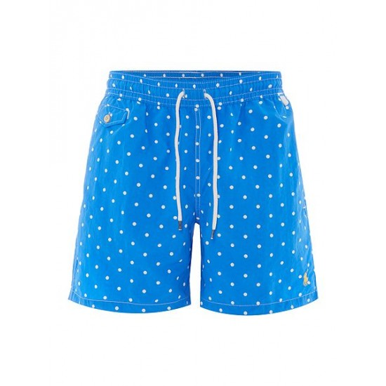 Polo ralph lauren men polka dot print swim shorts light blue