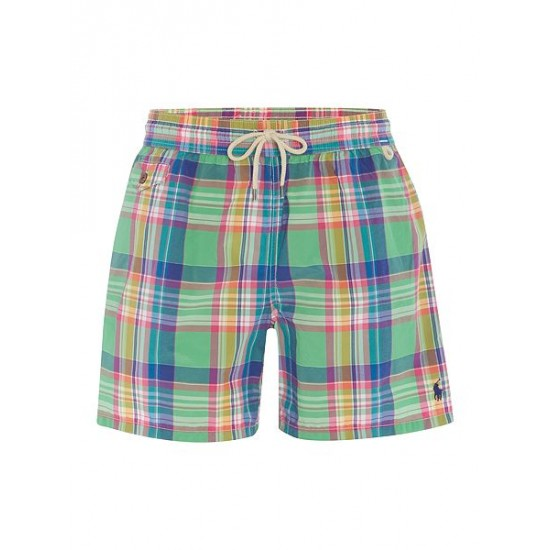 Polo ralph lauren men plaid swim shorts green