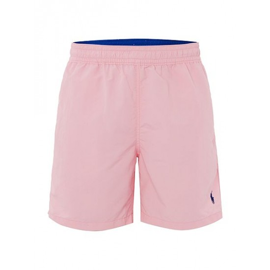 Polo ralph lauren men mid length logo swim shorts pink