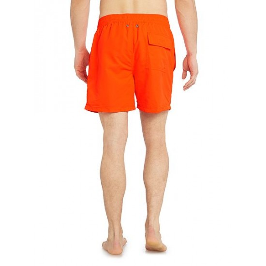 Polo ralph lauren men classic neon swim shorts orange