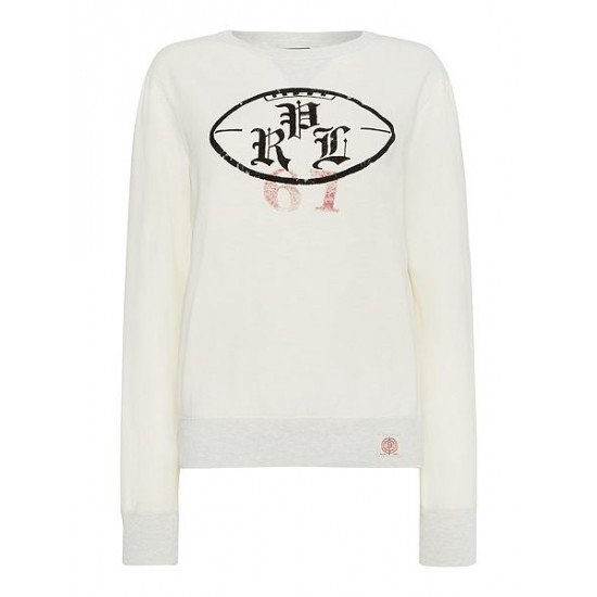 Polo ralph lauren men crew neck polo logo sweatshirt cream