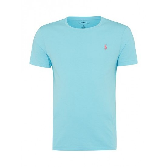 Polo ralph lauren men basic crew short sleeve tee blue