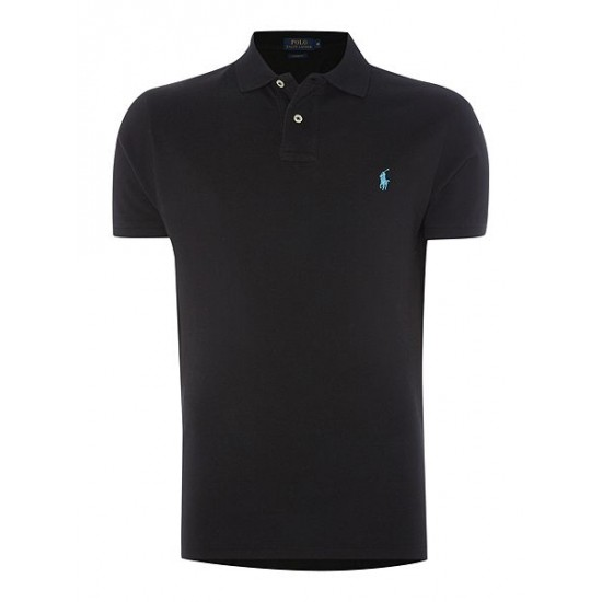 Polo ralph lauren custom fit mesh polo shirt black sale