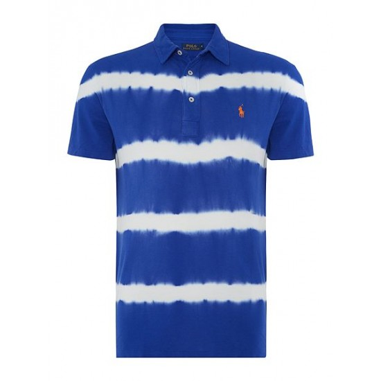 Polo ralph lauren men custom fit featherweight mesh polo royal blue