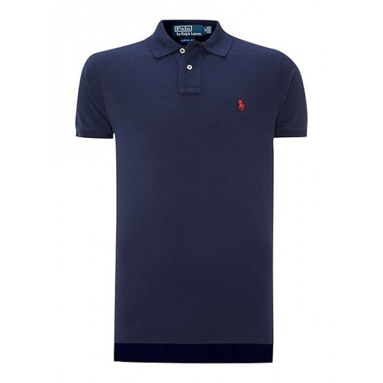 Polo ralph lauren men custom fit mesh polo shirt navy