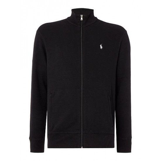 Polo ralph lauren men french rib full zip black