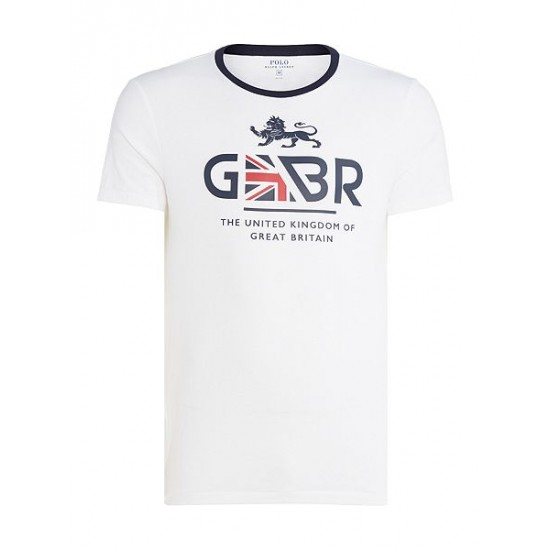 Polo ralph lauren men countries of the world great britain tee white