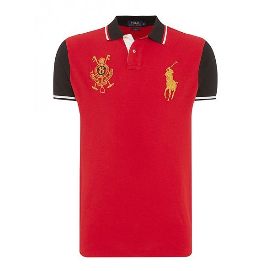 Polo ralph lauren men chinese new year slim fit polo shirt red