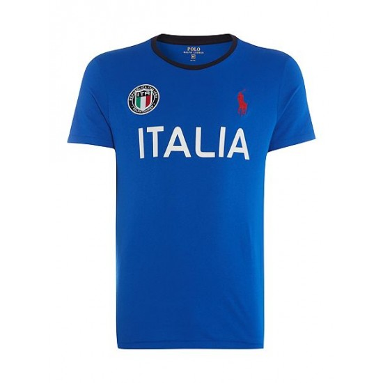 Polo ralph lauren men countries of the world italy tee blue