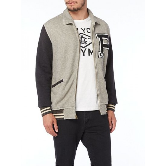 Polo ralph lauren men baseball jacket grey marl