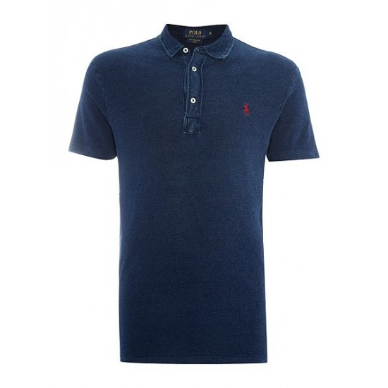 Polo ralph lauren men custom fit featherweight mesh polo indigo