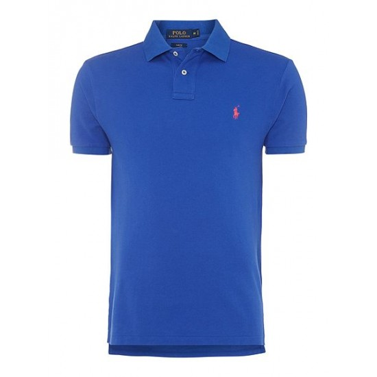 Polo ralph lauren men basic mesh slim fit short sleeve polo royal