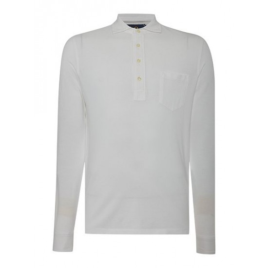 Polo ralph lauren men custom fit jersey polo white