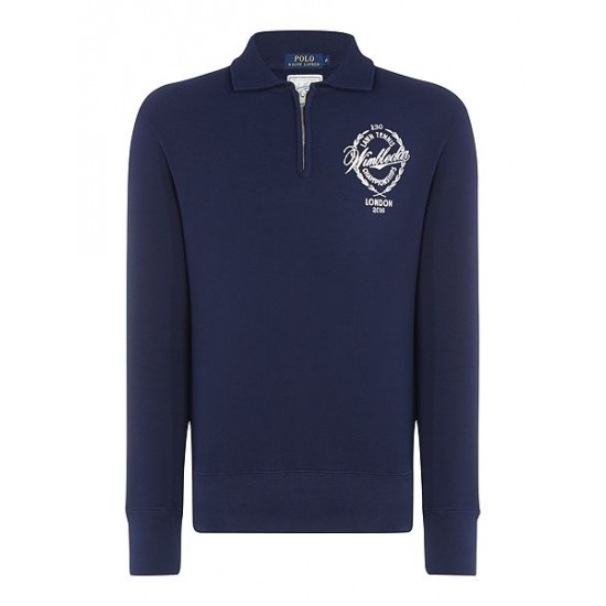 Polo ralph lauren men wimbledon half zip french navy