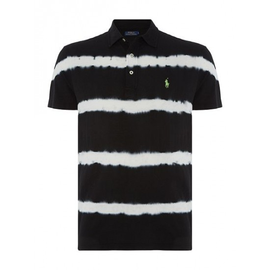 Polo ralph lauren men custom fit featherweight mesh polo black