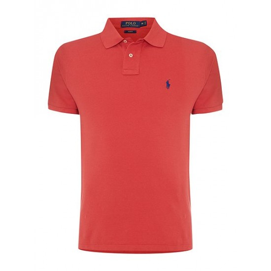 Polo ralph lauren men basic mesh slim fit short sleeve polo red