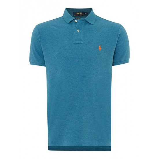 Polo ralph lauren men custom fit basic mesh polo marine