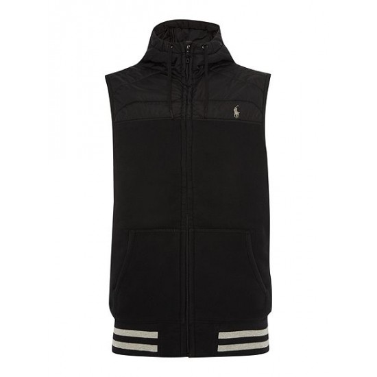 Polo ralph lauren men quilted sleeveless jacket black