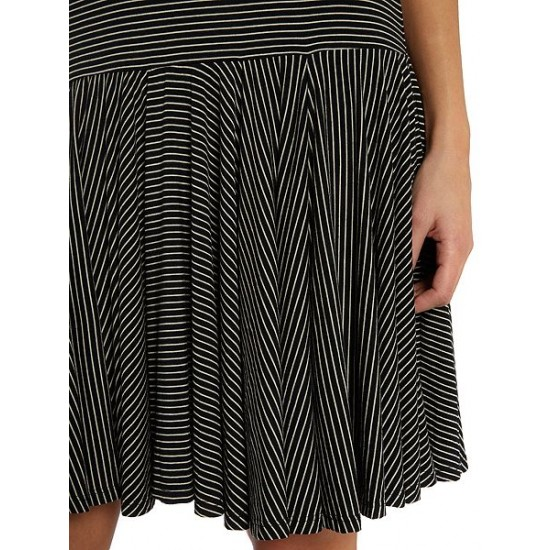 Polo ralph lauren women strappy dress with stripe print black white