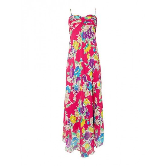 Polo ralph lauren women maxi floral print dress pink