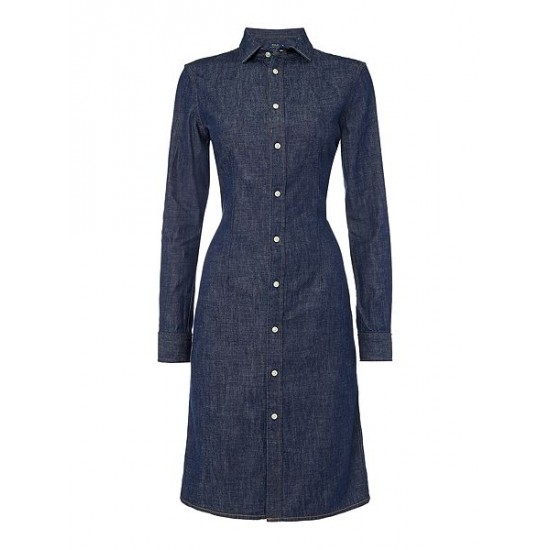 Polo ralph lauren women denim shirt dress denim