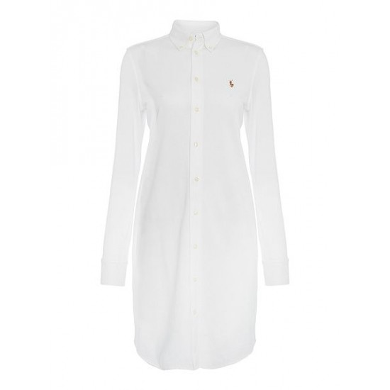 Polo ralph lauren women shirt dress white