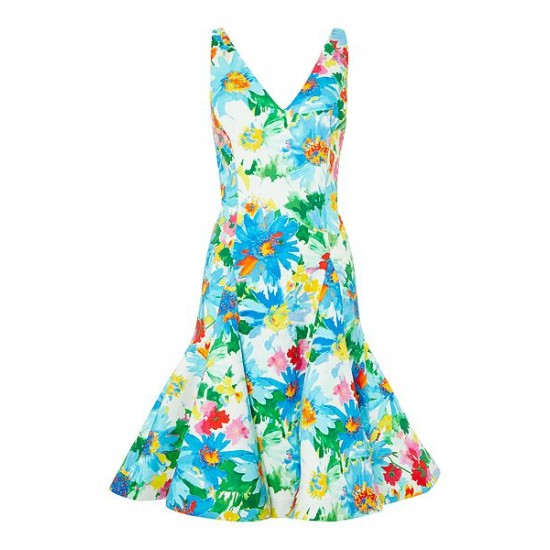 Polo ralph lauren women floral fit and flare dress multi coloured