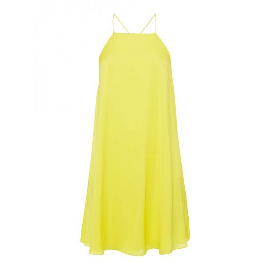 Polo ralph lauren women dayana silky dress yellow