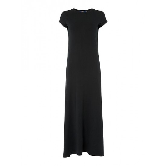Polo ralph lauren women evelyn maxi casual dressblack
