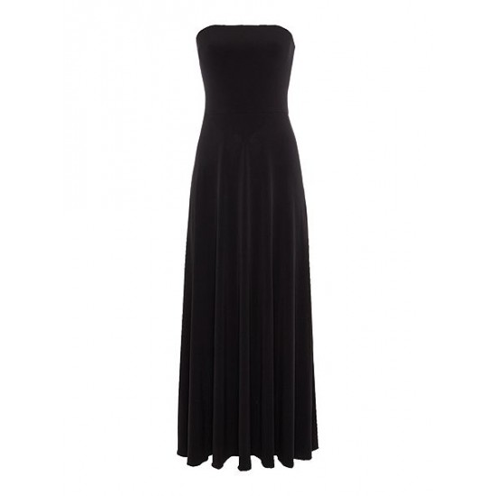 Polo ralph lauren women strapless maxi dress black