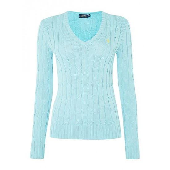 Polo ralph lauren women kimberley long sleeve jumper blue