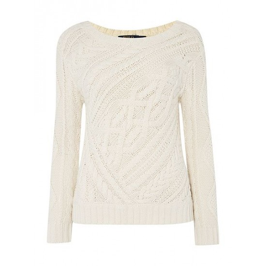 Polo ralph lauren women long sleeve crew neck jumper cream