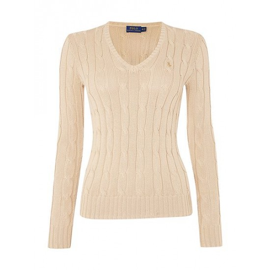 Polo ralph lauren women kimberley long sleeve jumper beige