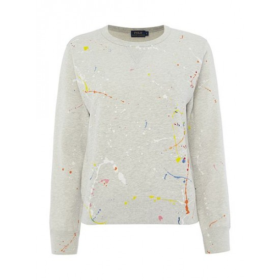 Polo ralph lauren women paint splatter sweater multi coloured